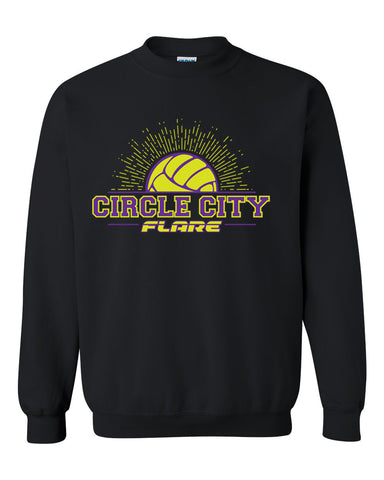 Circle City Flare Volleyball Heavy Blend Crewneck Sweatshirt SP - L&M Spirit Gear  - 1