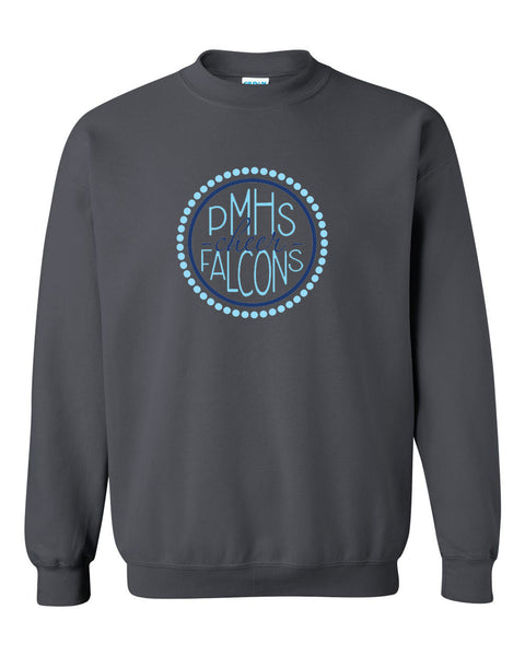 Perry Meridian Cheer Charcoal Crew Sweatshirt SP2 - L&M Spirit Gear