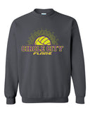 Circle City Flare Volleyball Heavy Blend Crewneck Sweatshirt SP - L&M Spirit Gear  - 2