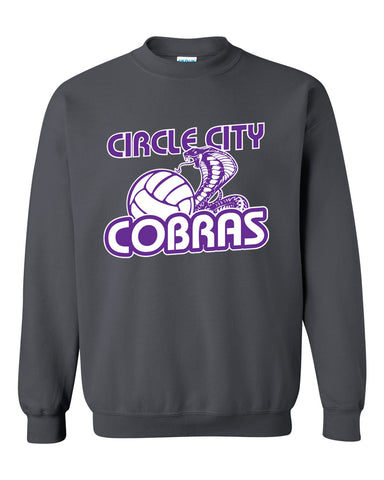 Circle City Cobras Volleyball Heavy Blend Crewneck Sweatshirt SP - L&M Spirit Gear