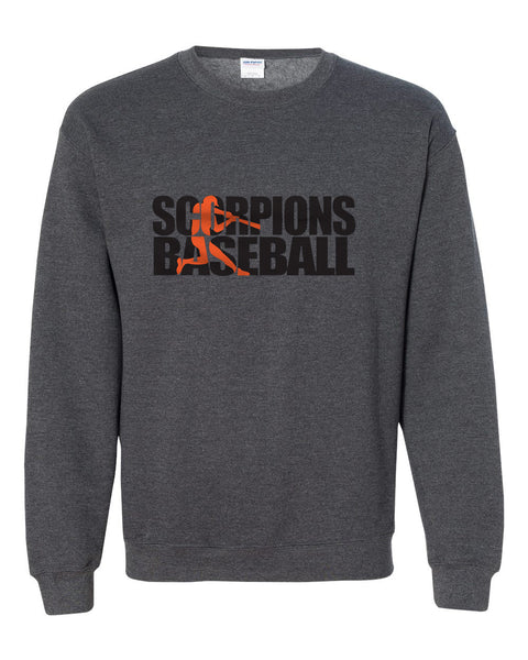 Scorpions Baseball Heavy Blend Crewneck Sweatshirt SP2 - L&M Spirit Gear  - 1