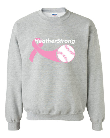 Heather Strong Heavy Blend Crewneck Sweatshirt SP - L&M Spirit Gear  - 1