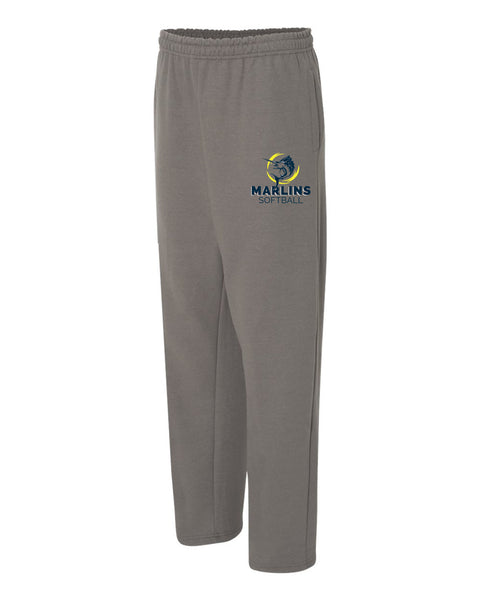 Marlins Softball Open Bottom Sweatpants - SP