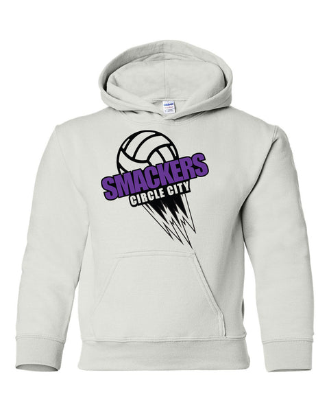 Circle City Smackers Volleyball Heavy Blend Youth Hooded Sweatshirt SP - L&M Spirit Gear  - 1