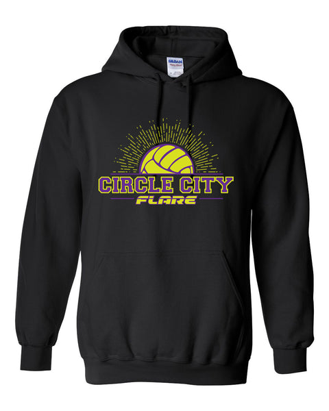 Circle City Flare Volleyball Heavy Blend Hooded Sweatshirt SP - L&M Spirit Gear  - 1