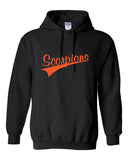 Scorpions Baseball Heavy Blend Hooded Sweatshirt SP4 - L&M Spirit Gear  - 1