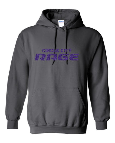 Circle City Rage Volleyball Heavy Blend Hooded Sweatshirt Glitter - L&M Spirit Gear  - 1