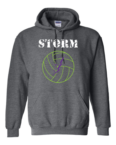 Storm Volleyball Heavy Blend Hooded Sweatshirt SP - L&M Spirit Gear