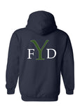 Yorktown Fire Department Hoodie Tiger Sweatshirt YFD Back - L&M Spirit Gear