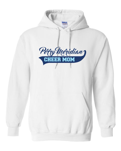 Perry Meridian Cheer Mom White or Sport Grey Hoodie SP4 - L&M Spirit Gear