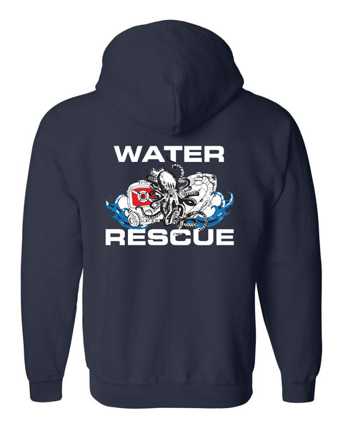 Fishers Fire Department Water Rescue Heavy Blend Full-Zip Hooded Sweatshirt SP2 - L&M Spirit Gear