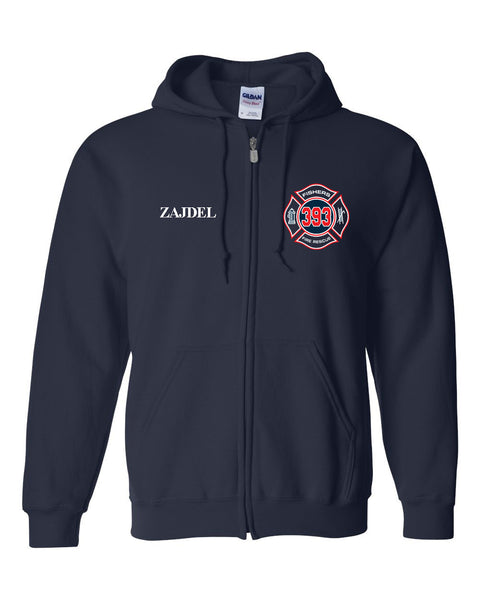 Fishers Fire 393 Heavy Blend Full-Zip Hooded Sweatshirt SP - L&M Spirit Gear