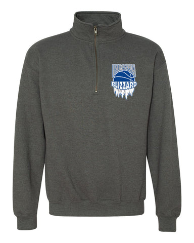 Indiana Blizzard Heavy Blend Quarter-Zip Cadet Collar Sweatshirt EMB - L&M Spirit Gear  - 1