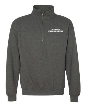 Plainfield Girls Swimming & Diving Heavyweight Quarter Zip - EMB