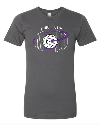 Circle City Mojo Asphalt Grey Volleyball Tee Shirts SP