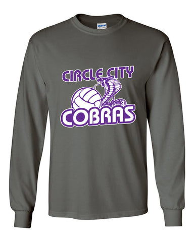 Circle City Cobras Volleyball Ultra Cotton Long Sleeve T-Shirt SP - L&M Spirit Gear