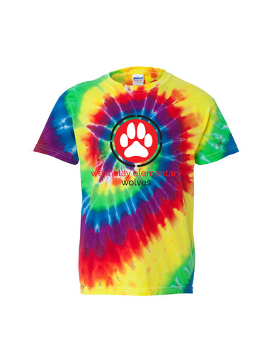 West Clay Elementary Youth Multi-Color Spiral Tee SP2