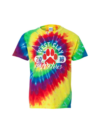 West Clay Elementary Youth Multi-Color Spiral Tee SP4