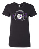 Circle City Mojo Black Volleyball Tee Shirts SP