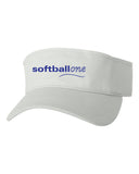 Softball one Sandwich Visor EMB - L&M Spirit Gear  - 2