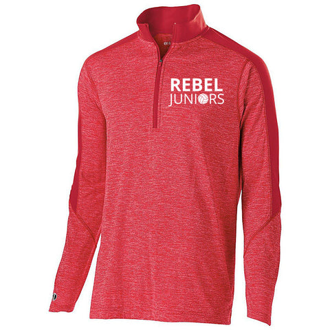 Rebel Juniors Unisex Electrify Heather Red 1/4 Zip