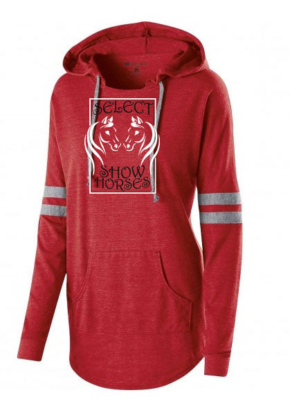 Select Show Horses Hooded Women's Pullover In Red SP - L&M Spirit Gear