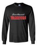 Northwest Warriors Basketball Ultra Cotton Long Sleeve T-Shirt Glitter - L&M Spirit Gear  - 2