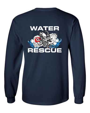 Fishers Fire Department Water Rescue Ultra Cotton Long Sleeve T-Shirt SP2