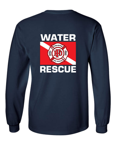 Fishers Fire Department Water Rescue Ultra Cotton Long Sleeve T-Shirt SP4