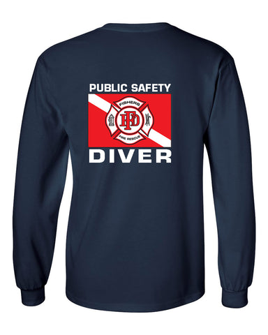 Fishers Fire Department Water Rescue Ultra Cotton Long Sleeve T-Shirt SP5