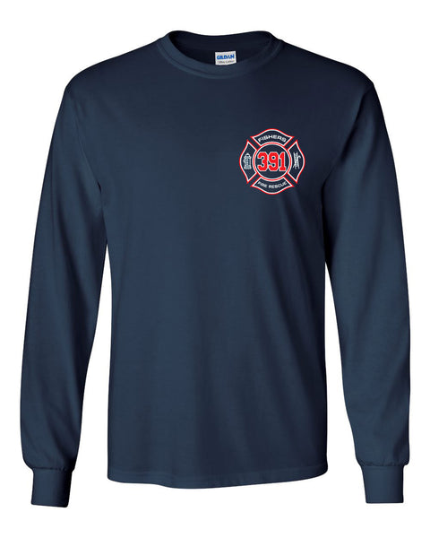 Fishers Fire 391 Ultra Cotton Long Sleeve T-Shirt SP - L&M Spirit Gear