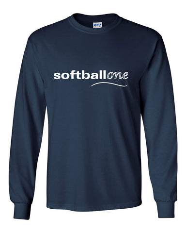Softball one Ultra Cotton Long Sleeve T-Shirt SP - L&M Spirit Gear  - 1