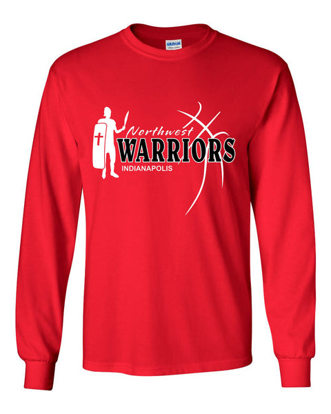 Northwest Warriors Basketball Ultra Cotton Long Sleeve T-Shirt SP2 - L&M Spirit Gear  - 2