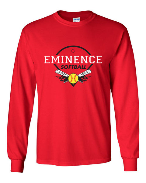 Eminence Softball Adult Red Long Sleeve T-shirt SP1 - L&M Spirit Gear