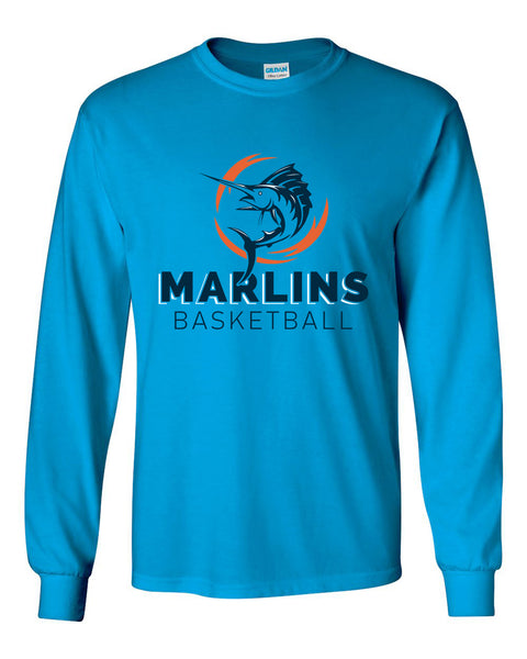 Marlins Basketball Long Sleeve Tee - SP