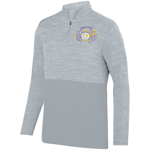 Circle City Mojo Volleyball SHADOW TONAL HEATHER 1/4 ZIP PULLOVER SP