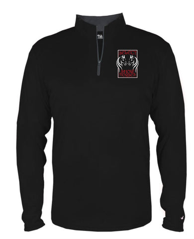 Select Show Horses Youth 1/4 zip in black - L&M Spirit Gear