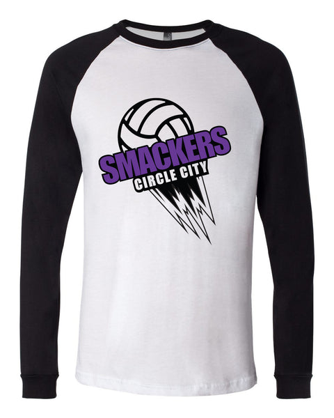 Circle City Smackers Volleyball Long Sleeve Jersey Baseball Tee SP - L&M Spirit Gear