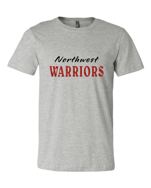 Northwest Warriors Basketball Unisex Short Sleeve Jersey Tee Glitter - L&M Spirit Gear  - 1