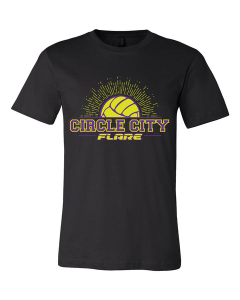 Circle City Flare Volleyball Unisex Short Sleeve Jersey Tee SP - L&M Spirit Gear  - 1