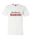 Northwest Warriors Basketball Unisex Short Sleeve Jersey Tee Glitter - L&M Spirit Gear  - 2