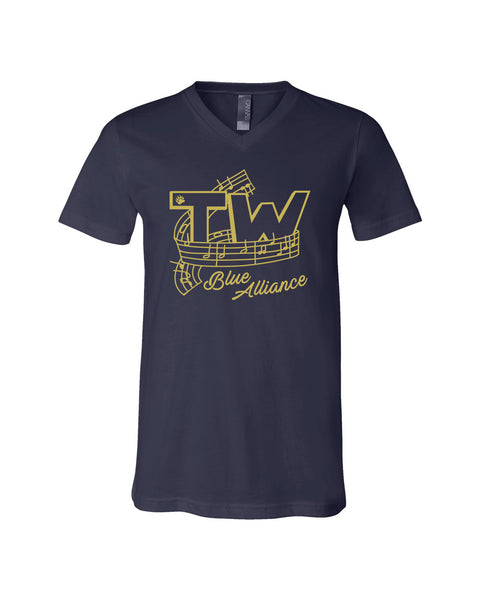 Tri-West Marching Band Unisex V-Neck Jersey Tee