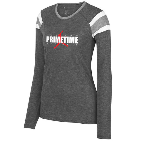 Indiana Primetime Softball LADIES LONG SLEEVE FANATIC TEE  SP - L&M Spirit Gear