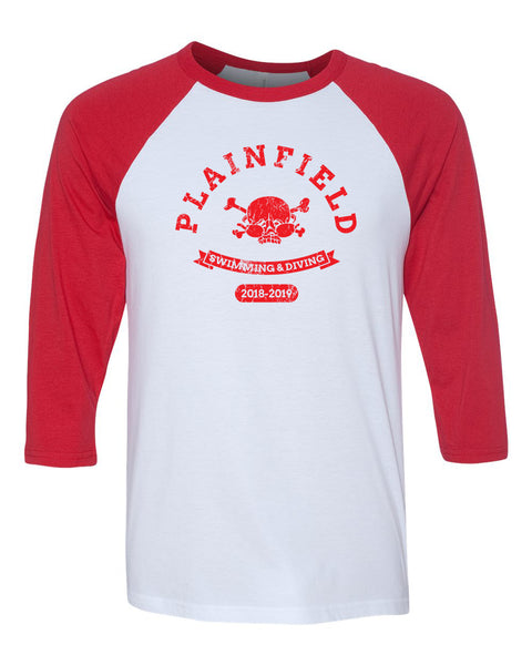 Plainfield Swimming Parent Gear Raglan - SP2