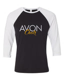 Avon Choir Three-Quarter Sleeve Jersey Baseball Tee SP1 - L&M Spirit Gear