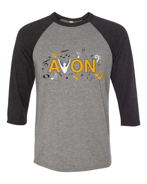 Avon Choir Three-Quarter Sleeve Jersey Baseball Tee SP3 - L&M Spirit Gear