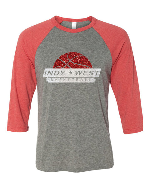 Indy West 3/4 Sleeve Raglan - GLITTER