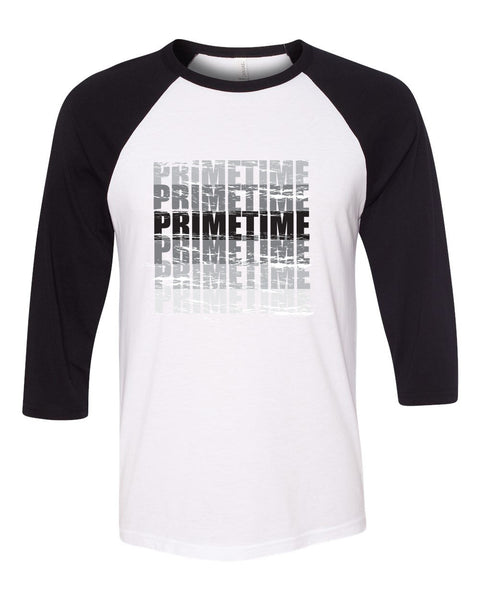 Indiana Primetime Unisex Three-Quarter Sleeve Baseball T-Shirt SP2 - L&M Spirit Gear
