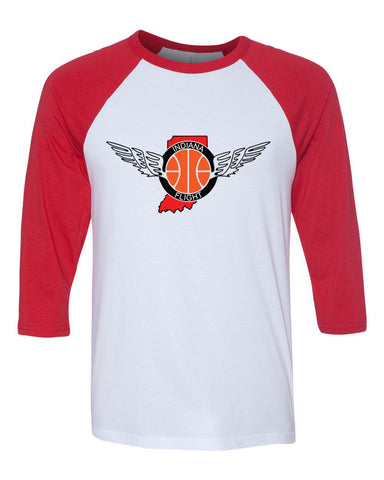 Indiana Flight Unisex Three-Quarter Sleeve Baseball T-Shirt SP - L&M Spirit Gear