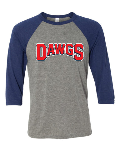 Diamond Dawgs 3/4 Sleeve Raglan - GLITTER